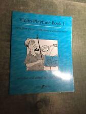 Violin playtime book 1 pièces très facile violon piano partition Faber music