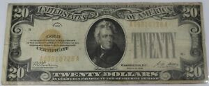 1928 $20 Gold Certificate Note S/N A09810728A - Item# 3745