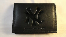 New York Yankees Black Tri-Fold Leather Wallet