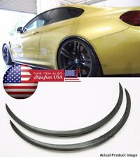 "1 x Pair Black Carbon 1"" Flexible Arch Wide Fender Extension Guard Lip For Ford"