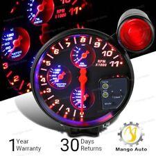 "5"" 4-in-1 11K RPM LED Shift Light Tachometer Oil Water Pressure Temp Gauge"