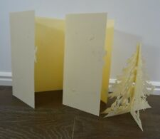 Vintage Laser Cut Christmas Cards 3D Tree Birds Lot