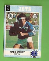 1977 SCANLENS RUGBY LEAGUE CARD   #59 MARK WRIGHT, NEWTOWN JETS