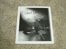 Steve Vai - Signed 8x10 black & white litho print with tour guitar pick