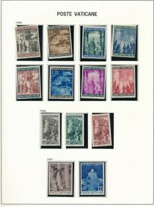 D208678 Vatican City 1950 Nice selection of MNH stamps