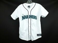 SEATTLE MARINERS Baseball Jersey Stitched MLB Majestic Boys Large [5-SC]