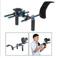 DSLR Camera Shoulder Mount Rig Video Camcorder Stabilisator Dual Handle grip ST-1