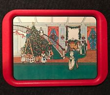 Serving Tray Victorian Tree Decorating Christmas Decor Potpourri Press 15x12