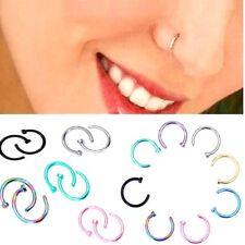5 - 40Pcs Wholesale Surgical Steel Silver Nose Ring Hoop Cartilage Piercing Stud