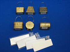 6 Two's Company Gold Handbags Purse Place card Holders Dinner Name Plates Set 6