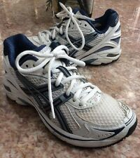ASICS GEL GT-2140 DUOMAX Women's White Blue Athletic Sneaker Shoe Size 6 #T954N