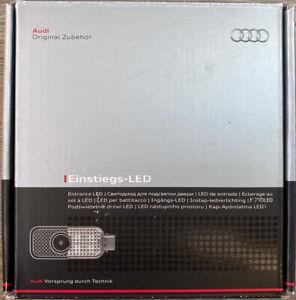"Genuine Audi LED Entry Puddle Lights 4G0052133H ""Quattro"" Logo NEW"