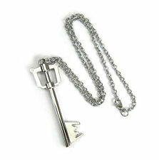 Anime Kingdom Hearts Sora Key Blade Metal Pendant Necklace Chains Cosplay