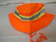 Safety Orange Reflective Hi Viz Boonie Hat