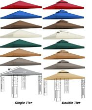 8x8' 10x10' Gazebo Canopy Replacement Patio Outdoor Top Cover Single Double Tier
