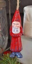Artefina Christbaum Weihnachtsmann Metall Deko Hänger nordisch Shabby Advent