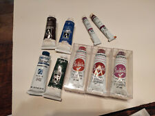 Grumbacher Artists Oil Colors 7 1.25 oz tubes, two small ones some new