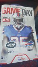 BUFFALO BILLS Gameday Program LESEAN MCCOY 9/10/17 New York Jets Jersey