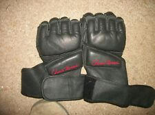 Chuck Norris fighting gloves,black leather,boxing,martial arts