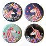 Unicorns Fridge Magnets Set #1 55mm 4pc Floral Magical Pink Decor Gift