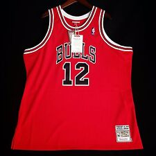100% Authentic Michael Jordan Mitchell Ness #12 Valentines Day Jersey Sz 56 3XL