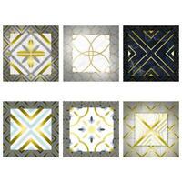 10pcs Waterproof Tiles Golden Wall Sticker Kitchen Bathroom Adhesive Decor
