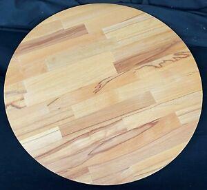 Holzplatte Bistroplatte Tischplatte Kernbuche massiv parketverleimt geölt 80cm