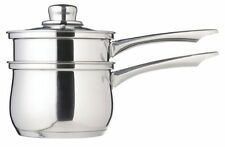 Kitchen Craft Stainless Steel PORRINGER Steamer Bain Marie Double Boiler Pan IND