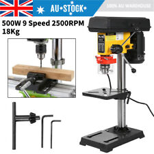 550w Drill Press Bench Workshop Mounted 9 Speed Drilling Stand 3 16mm Chuck AU