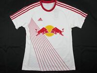 adidas New York Red Bulls - White Clima-lite Jersey (L) - Used
