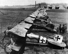 New 8x10 World War I Photo: Airplanes of Jagdstaffel or Jasta 11, Flying Circus