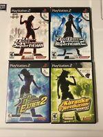 Dance Dance Revolution Karaoke Revolution 4 Game Lot Playstation 2 PS2 Konami