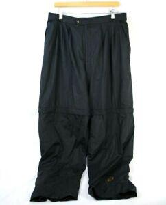 "Mens XL FootJoy FJ DryJoys Black Waterproof Convertible Rain Pants 33"" Inseam"