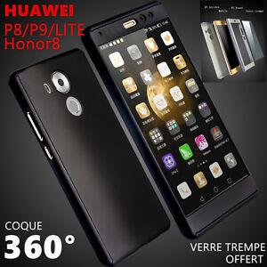 Coque + Verre Trempe Protection Intégrale360 HUAWEI P20 Lite P10 P8 P9 honor 9/8