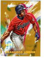 Francisco Lindor 2020 Topps Inception 5x7 Gold #13 /10 Indians