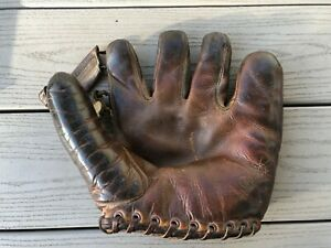 Early Yankees Joe Dimaggio Spalding Glove Mitt Facsimile Autograph