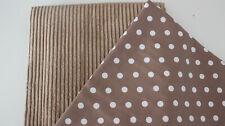 Stoffpaket, Breitcord + Baumwollstoff sand 2 x 50 x 140 cm Punkte