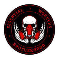 Essential Worker Round Oval Sticker Decal BrotherHood Essential Workers RED