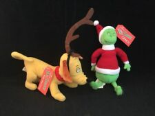 NWT Dr Seuss How The Grinch Stole Christmas Max Dog Plush Toy Stuffed Animal Lot