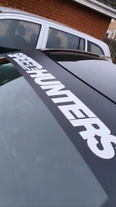 Speed Hunters SunStrip Matte Black & Gloss White logo (All Colours Available)