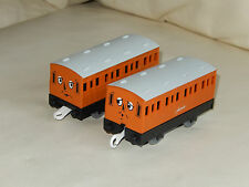 tomy trackmaster thomas the tank engine annie and clarabel coaches .
