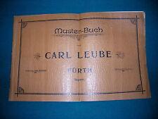 Gründerzeit Möbel Muster Buch Carl Leube Fürth ca. 1870