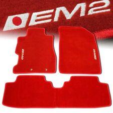 01-05 HONDA CIVIC EM2 CUSTOM FIT FLOOR MATS NON SKID CARPET SET KIT 5 PC RED
