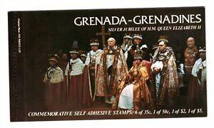 GRENADA GRENADINES 1977 BOOKLET SB1 SILVER JUBILEE QUEEN ELIZABETH II CTO FDI