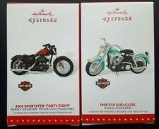 Hallmark 2015 Harley Davidson #17 2014 SPORTSTER FORTY-EIGHT, 1958 FLH DUO-GLIDE