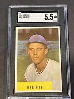 1954 Bowman #219 Hal Rice SGC 5.5 New Label Graded