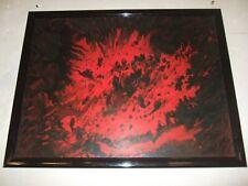 """Fond D'atelier,huile sur panneau, Abstrait beau format 71 cm /55 cm """"Ruiz"""" 1990"""