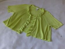 Chico's cardigan sweater size 3 (16-18) XL, lime, Rayon