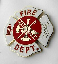 FIREFIGHTER FIRE DEPT MEDALLION LARGE SHIELD LAPEL PIN BADGE 1.5 INCHES