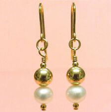 Hook Freshwater Natural Yellow Gold Fine Earrings